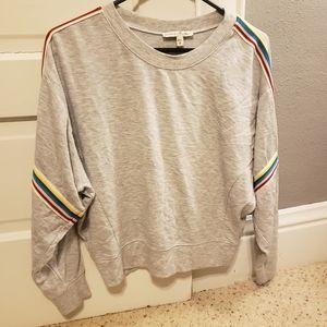 Express One Eleven Crop Sweatshirt Women's Small